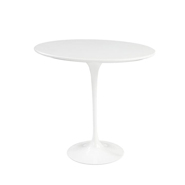 Knoll - Saarinen Tulip Beistelltisch rund - weiß / Laminat weiß