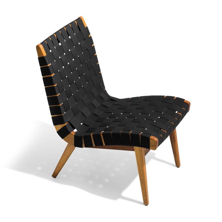 Knoll - Risom Lounge Sessel, schwarz