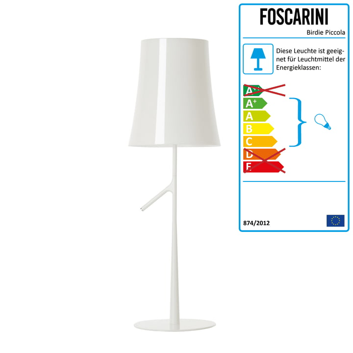 Foscarini - Birdie Piccola Tischleuchte, weiß