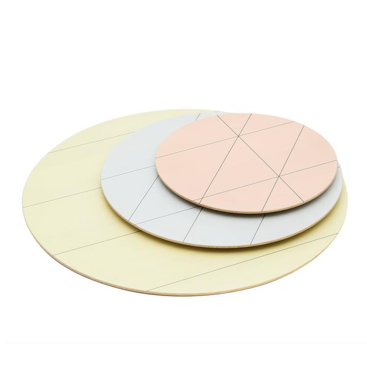 Karimoku - Colour Platter Teller (3er-Set), sun