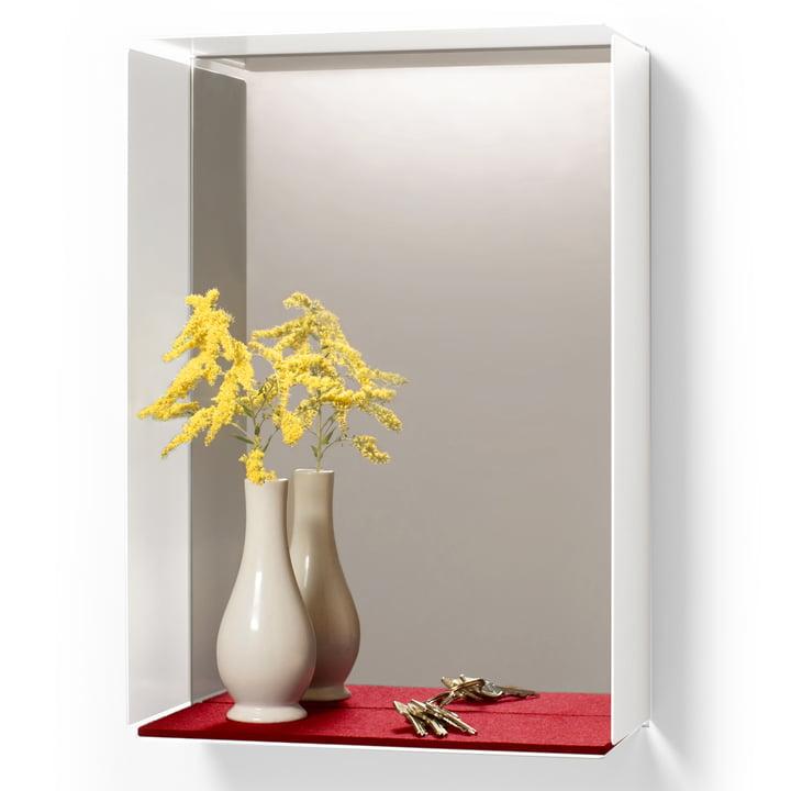 Konstantin Slawinski - Mirror-Box, rot - mit Gegenständen