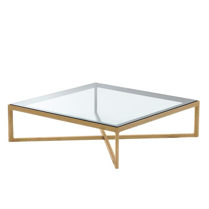 Knoll - Marc Krusin Coffee Table 90 x 90 cm, Eiche / Glas