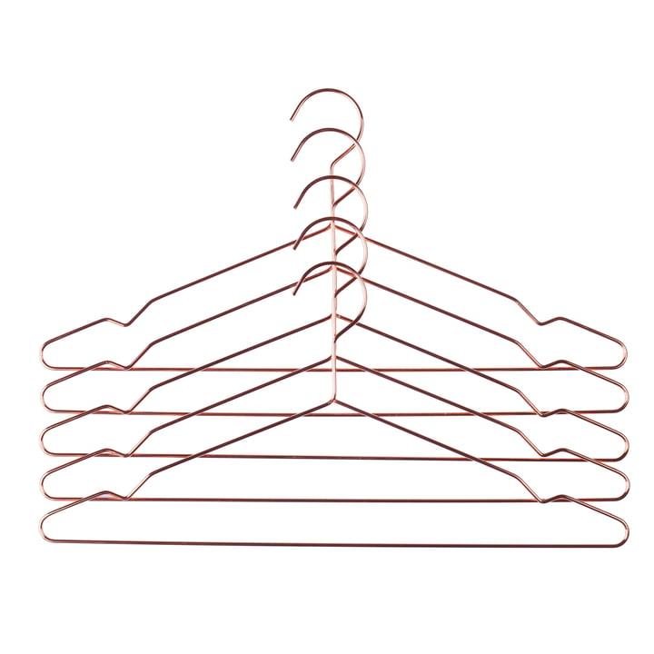 Hay - Hang Kleiderbügel 5er-Set, kupfer