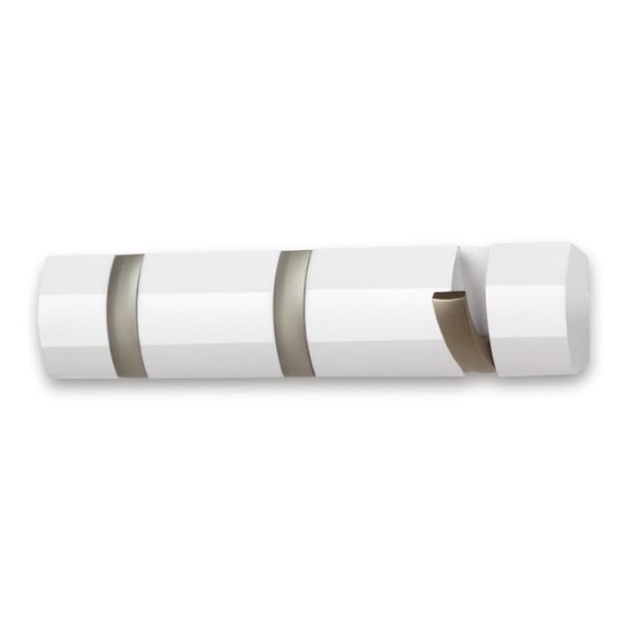 Umbra - Flip Hook 3er Garderobenleiste, weiß