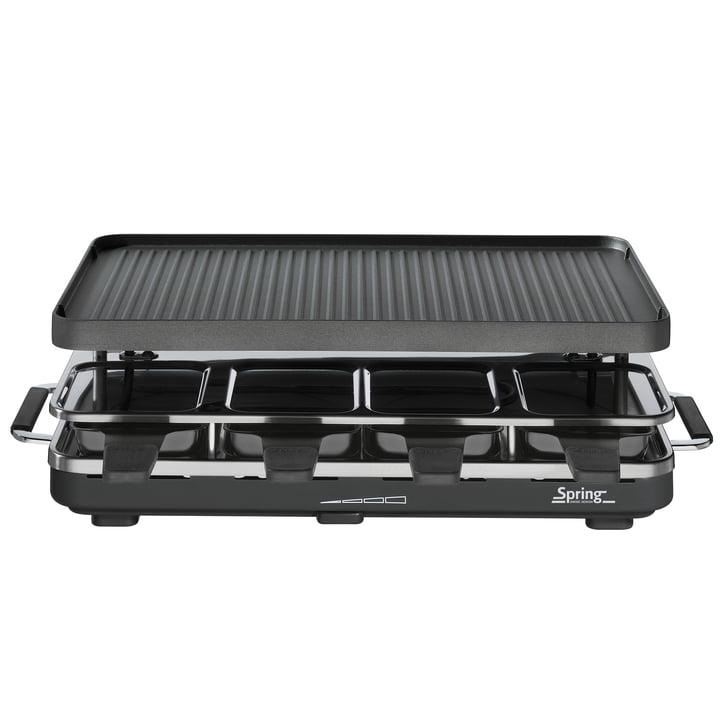 Spring - Raclette 8 mit Alu-Grillplatte, schwarz