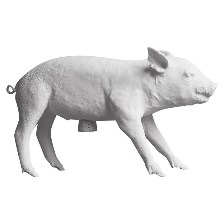 Das Pig Bank Sparschwein von Areaware, weiß matt