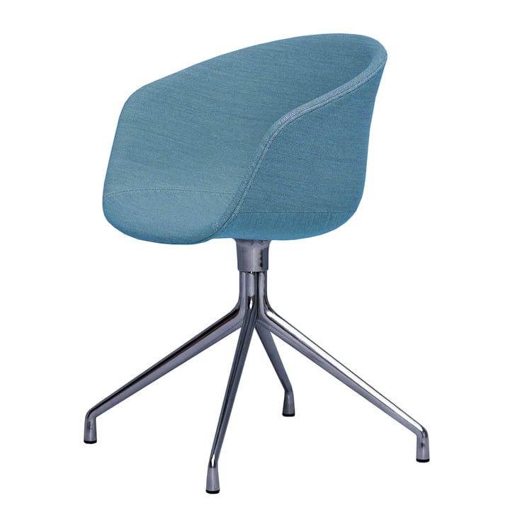 About A Chair AAC 21 von Hay in Aluminium poliert / hellblau (Steelcut Trio 853)