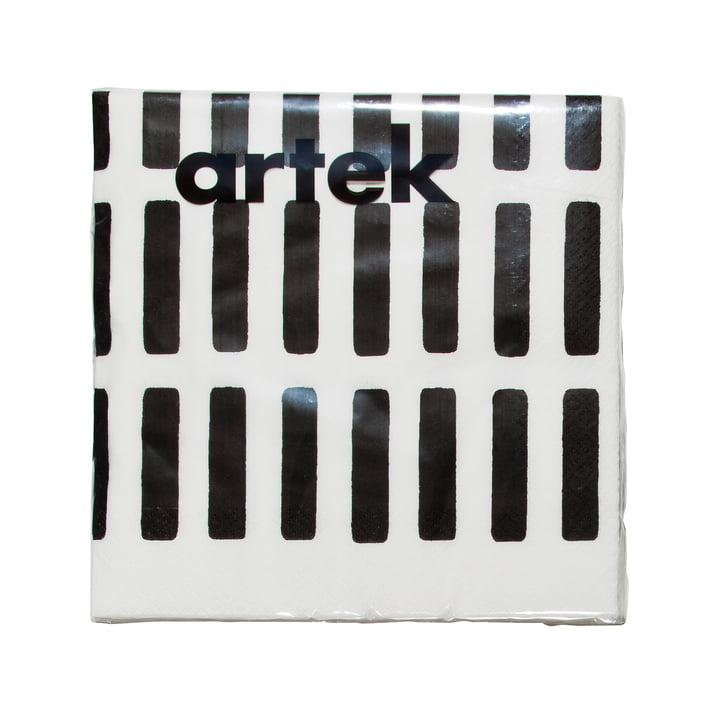 Artek - Siena Papierserviette Large, weiß / schwarz