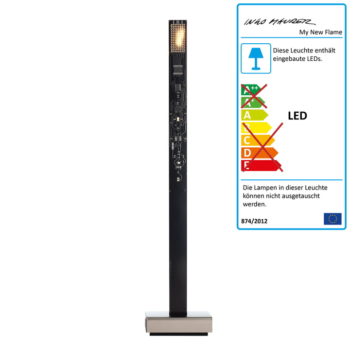 My New Flame LED Candle Tischleuchte USB von Ingo Maurer in Schwarz