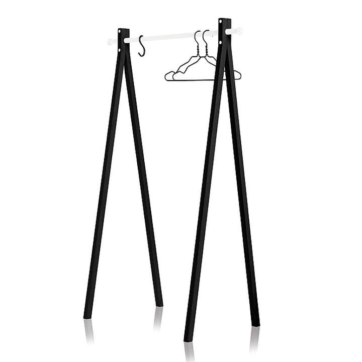 Nomess - Dress-Up Garderobenständer, schwarz, weiß, 90 cm