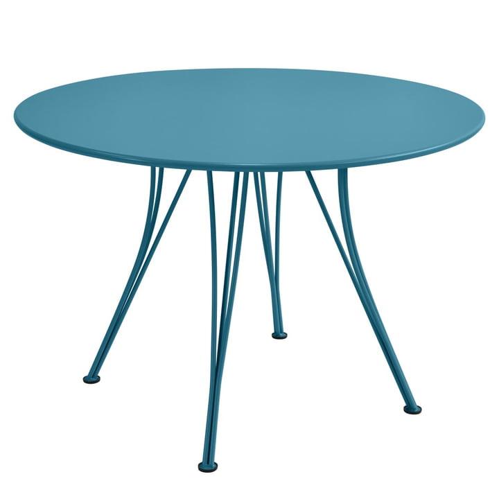 Rendez-Vous Tisch rund Ø 110 cm von Fermob in Türkis