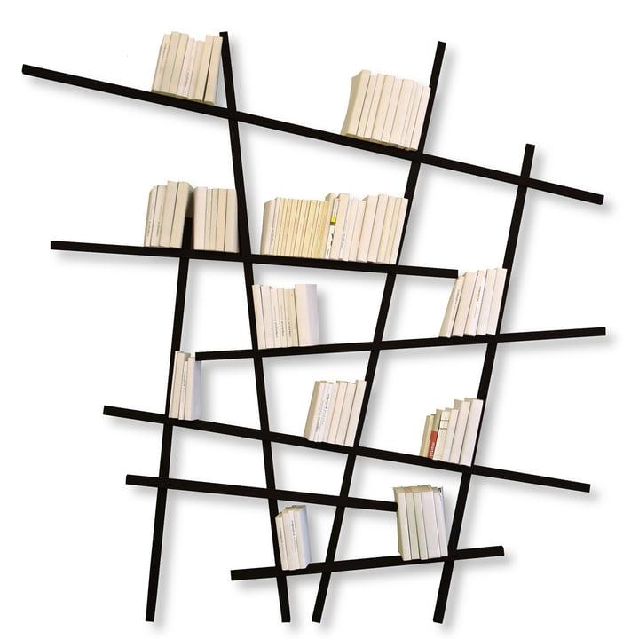Edition Compagnie - Mikado Bücherregal, groß, schwarz