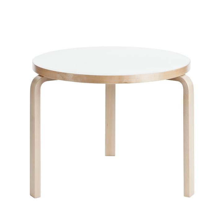 90B Tisch H 74 cm von Artek mit Oberfläche Laminat in Weiß