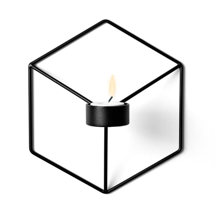POV Wand-Teelichthalter von Menu in schwarz