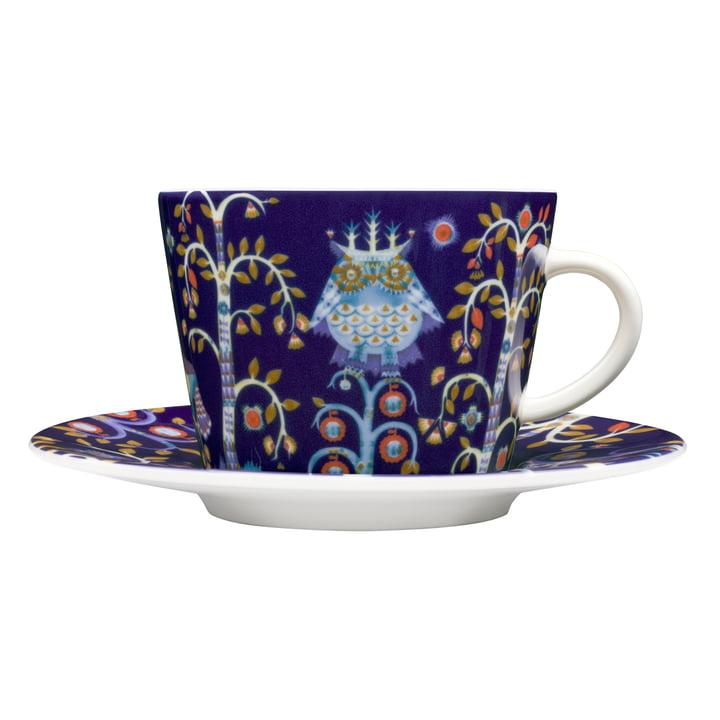Iittala - Taika - blau - Kaffeetasse mit Untertasse