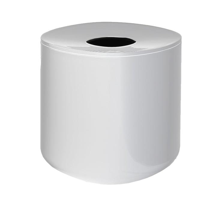 Birillo Papiertaschentuch-Behälter PL15, weiß von Alessi