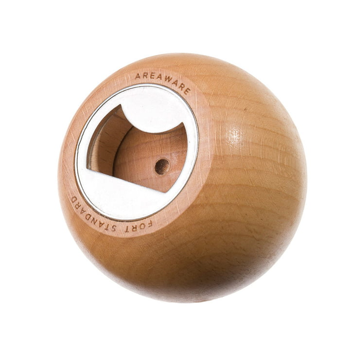 Areaware - Sphere Flaschenöffner, Holz natur - Öffnung