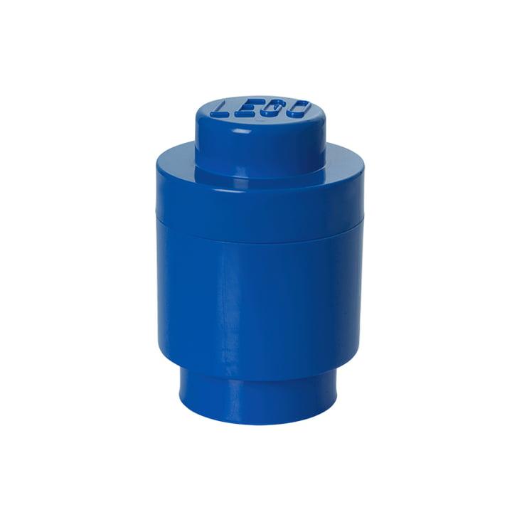 Lego - Storage Brick 1 Round, blau