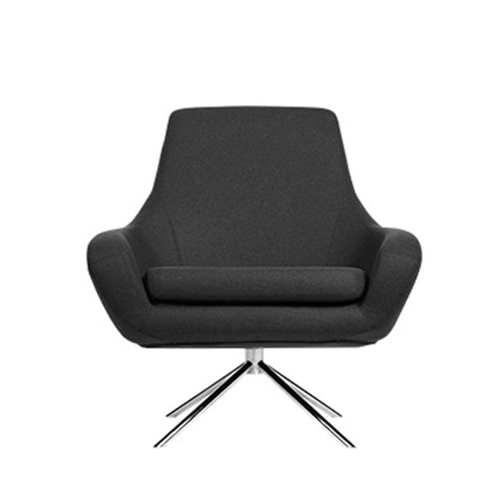 Noomi Lounge Sessel von Softline in Stahl verchromt / Vision dunkelgrau (439)