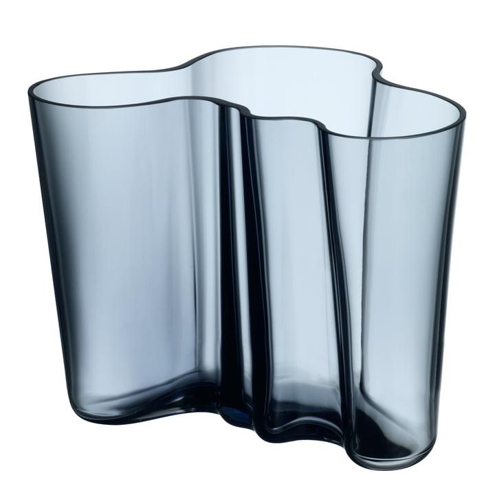 Aalto Vase Savoy 160 mm von Iittala in Regenblau