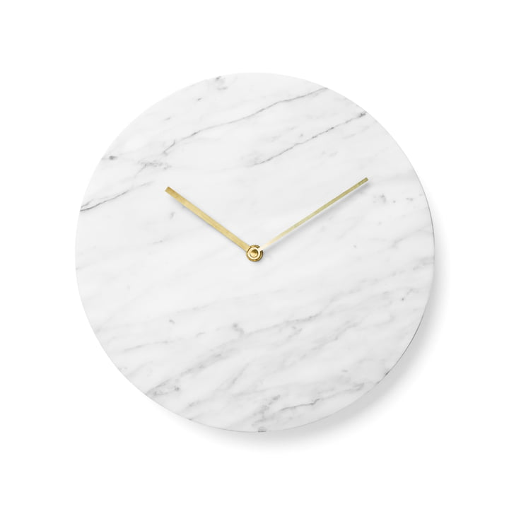 Menu - Marble Wanduhr, weiß