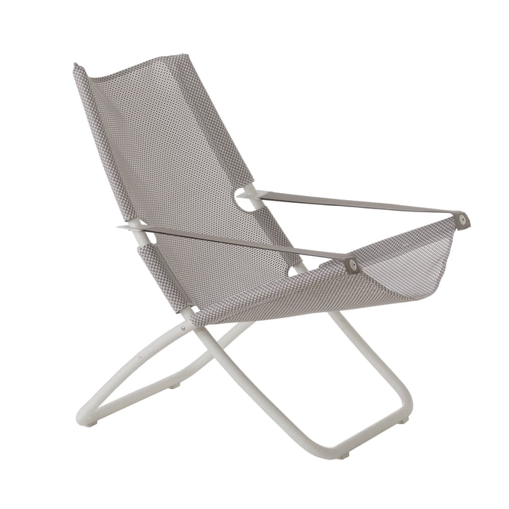 Snooze Liegestuhl von Emu in weiß / eis