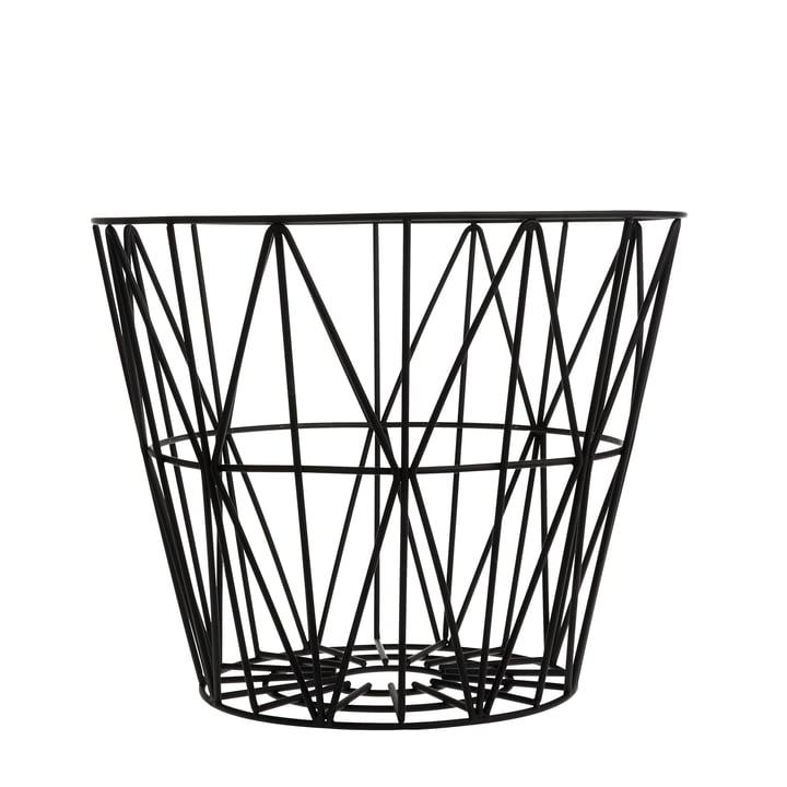 Wire Basket Small von ferm Living in Schwarz