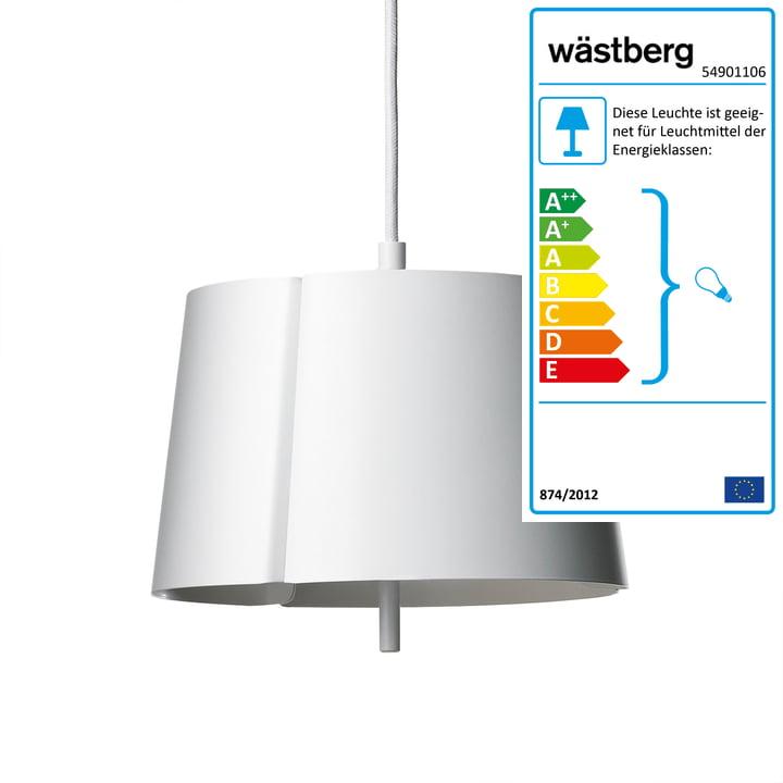 Lindvall Pendelleuchte w124 s2 von Wästberg in weiß