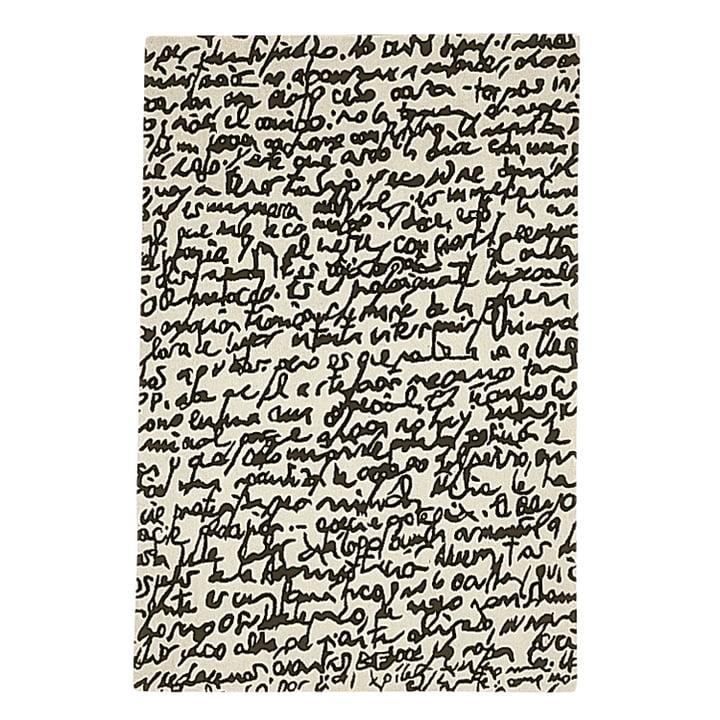 "nanimarquina - Black on white Teppich ""Manuscrit"" 200x300 cm"