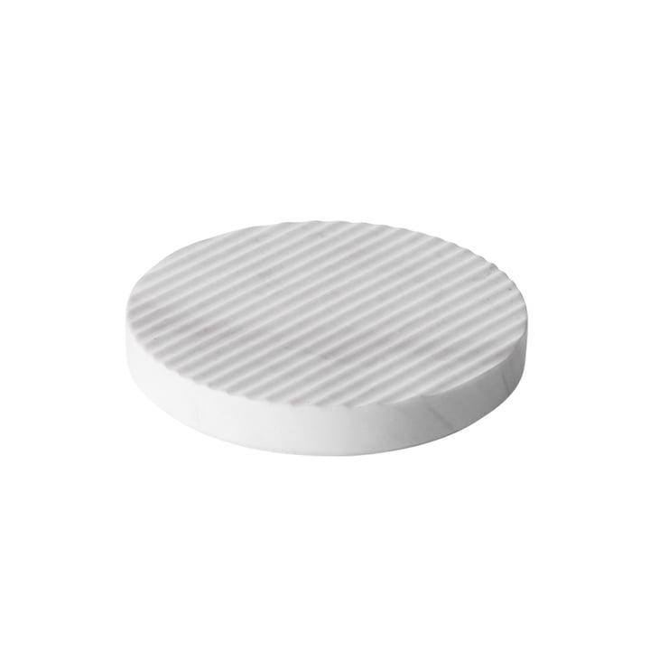 Groove Marmor-Untersetzer Ø 16 von Muuto in Weiß