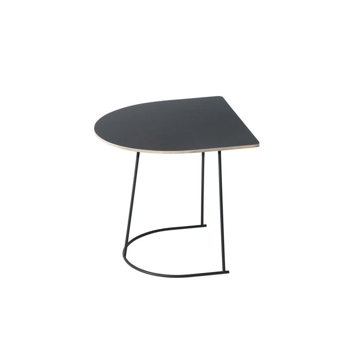 Der Airy Coffee Table von Muuto Half Size in Schwarz