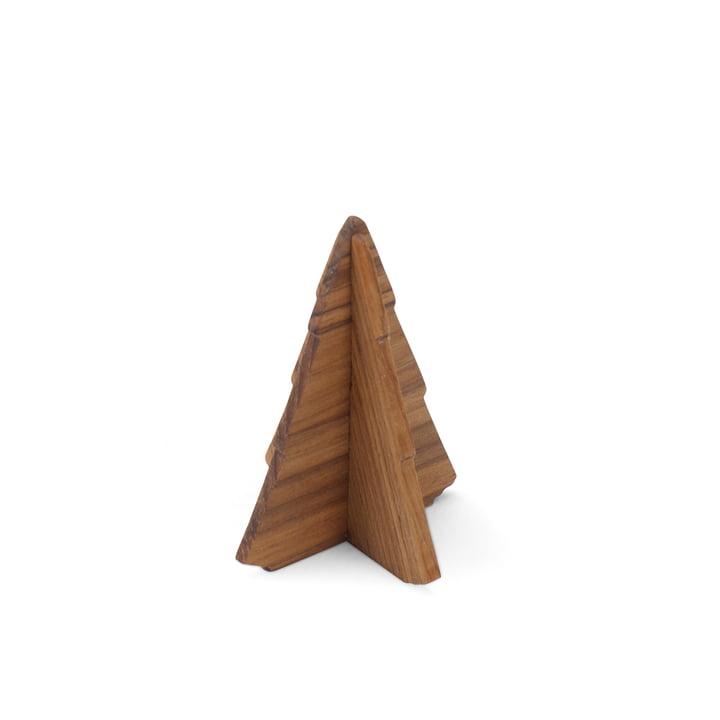 Skagerak - Spruce Tree, 9 cm, Teakholz
