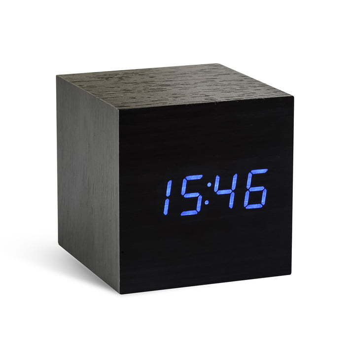 Gingko - Cube, schwarz / LED blau