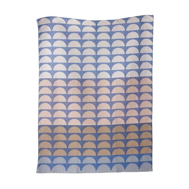 ferm living - Bridges Geschirrtuch, blau, 50 x 70 cm
