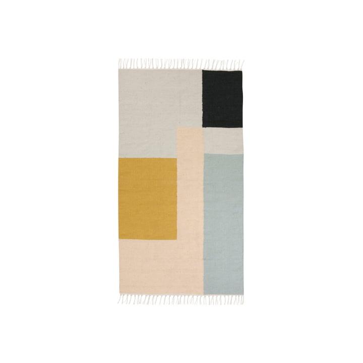 Kelim Rug Teppich, squares in klein von ferm living