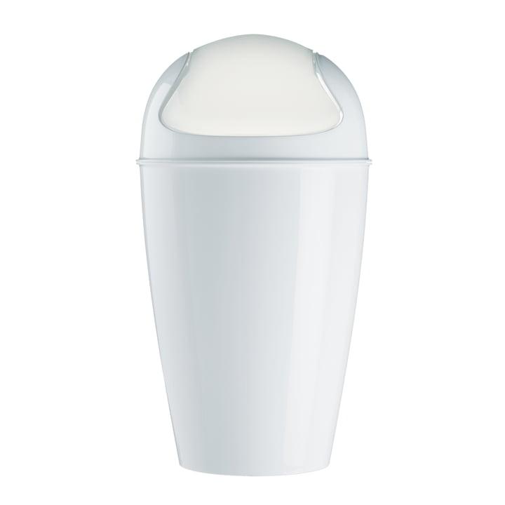 Koziol - DEL XL Schwingdeckeleimer, 30 l, weiß