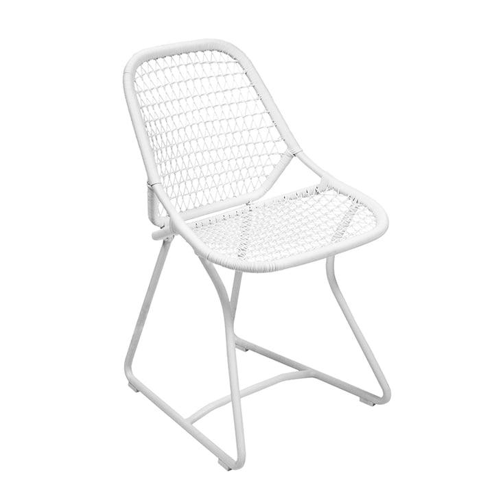 Sixties Stuhl von Fermob in Baumwollweiß