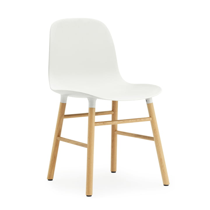 Form Chair von Normann Copenhagen in Weiß und Eiche