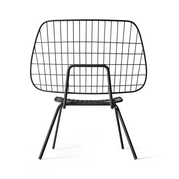 WM String Lounge Chair von Menu in Schwarz