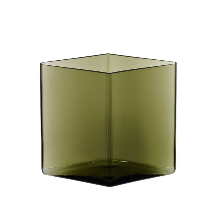 Ruutu Vase 205 x 180 mm von Iittala in Moosgrün