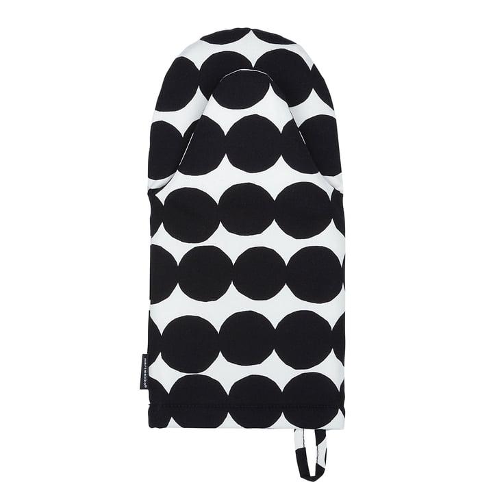 Räsymatto Ofenhandschuh von Marimekko in Schwarz / Weiß