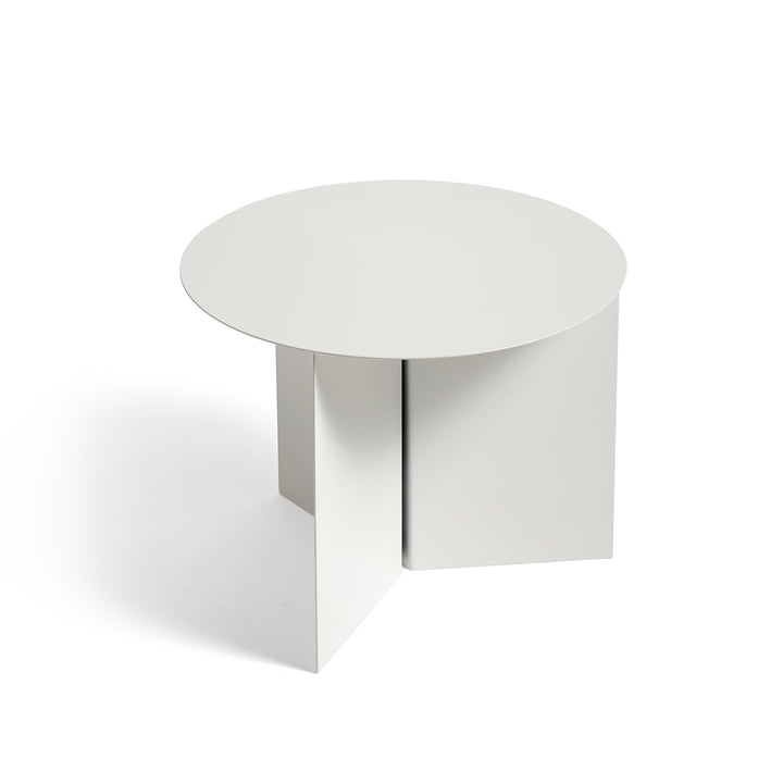 Slit Table Round von Hay in Weiß