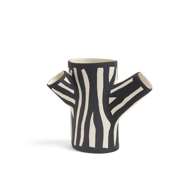 Tree Trunk Vase H 15 klein von Hay in Schwarz/ Weiß