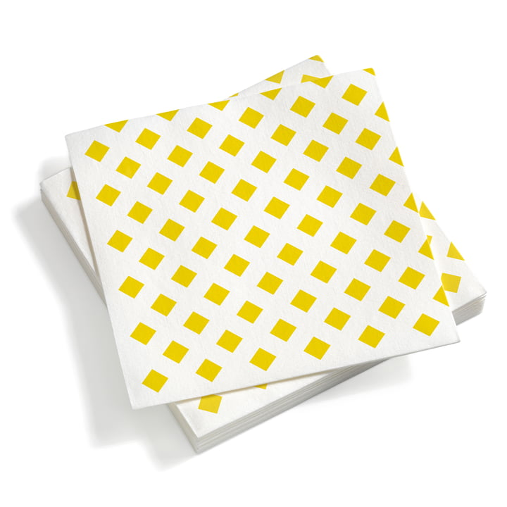 Paper Napkins large La Fonda Checks Yellow 40 x 40 von Vitra
