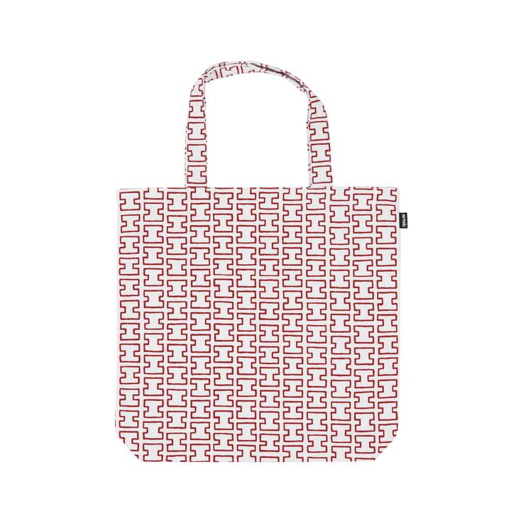 Die H55 Stofftasche von Artek, weiß / rot