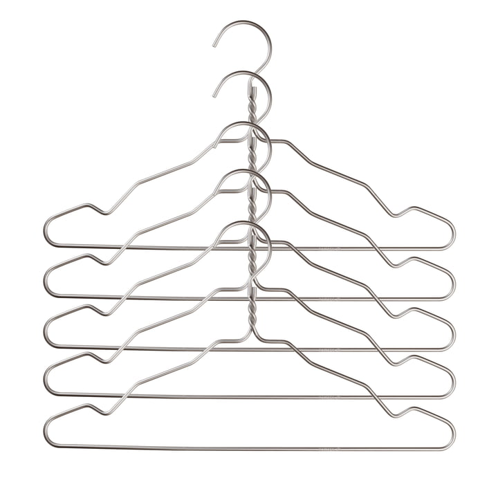 Nomess - Alu Hanger mit Kerbe (5er-Set), alu silber