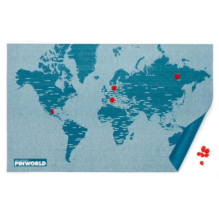 Die Palomar - Pin World in blau mit roten Reißzwecken
