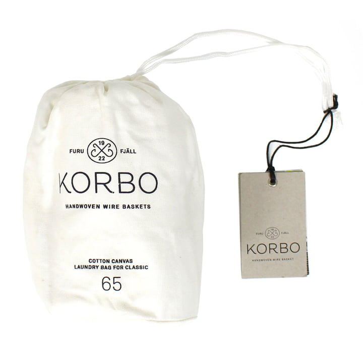 Laundry Bag 65 von Korbo in Weiß