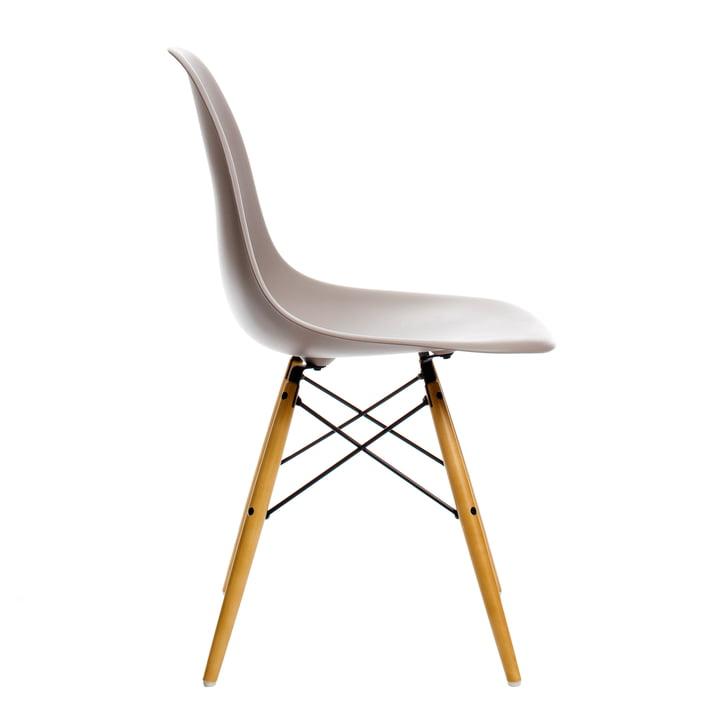 Vitra - Eames Plastic Side Chair DSW, Ahorn gelblich / mauve grau