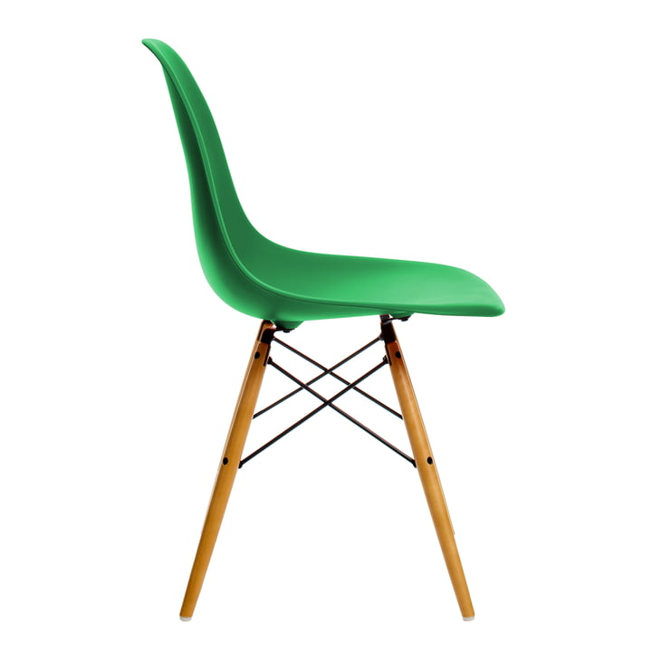 Vitra - Eames Plastic Side Chair DSW, Ahorn gelblich / classic green